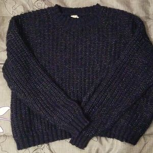 Navy blue sweater from garage